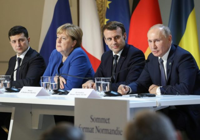 macron putin merkel zelensky summit