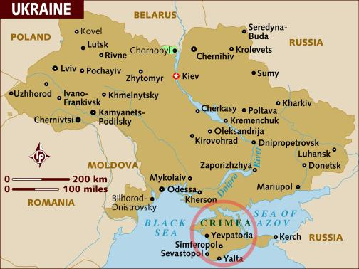 ukraine russia map w crimea
